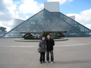 In front of The Rock Hall