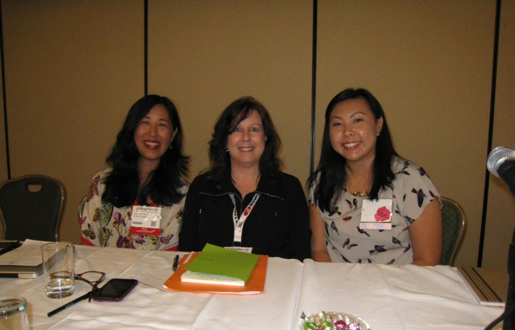BlogHer 2012 - 10 Things Panel - Speakers Tamaki, DePalma, Lam