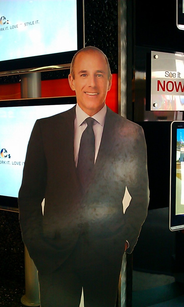 Blogher 2012 Matt Lauer cut-out