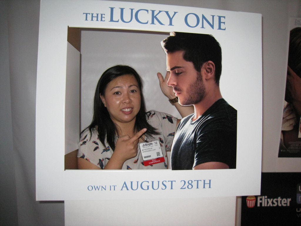 BlogHer12 Zac Efron The Lucky One cut-out