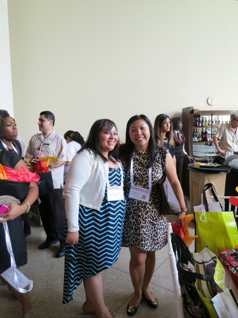 Xenia and me - Blogalicious 2011