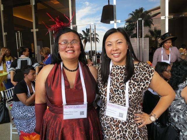 Thien-Kim and me - blogalicious 2012