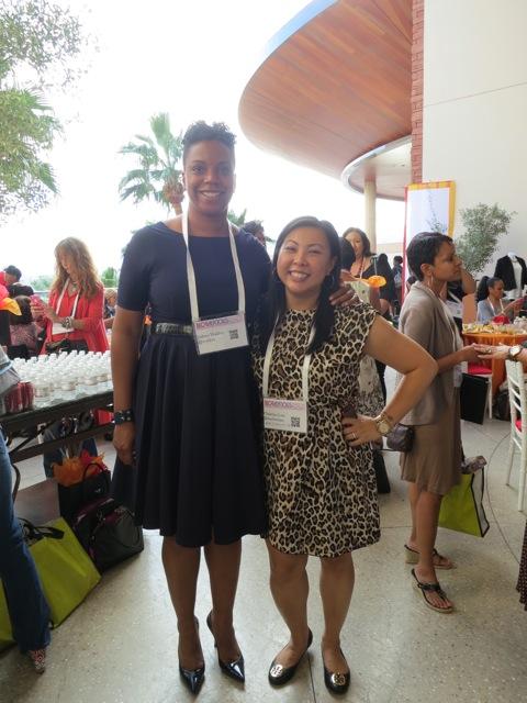 Judene Walden and me - Blogalicious 2012