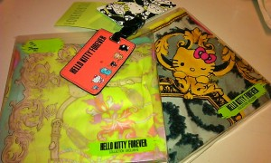 Hello Kitty Forever + Forever 21 scarves luggage tag