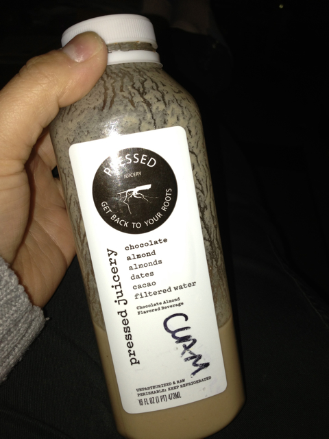 This tastes amazing - Chocolate Almond Milk - Pressed Juicery