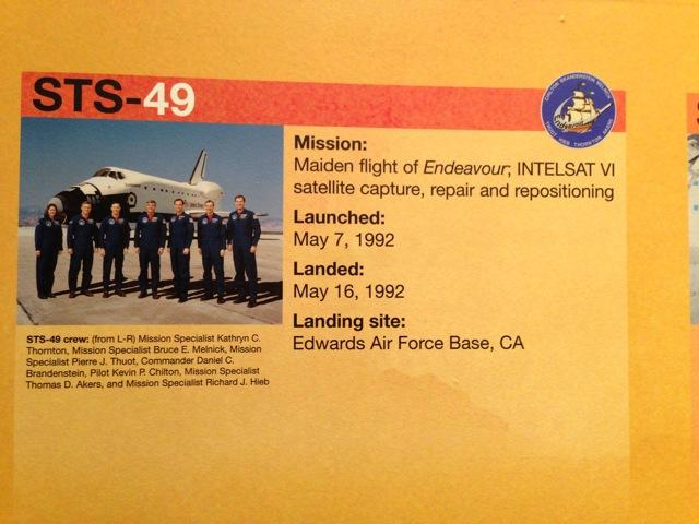 Maiden Voyage - Astronaut team - Endeavour