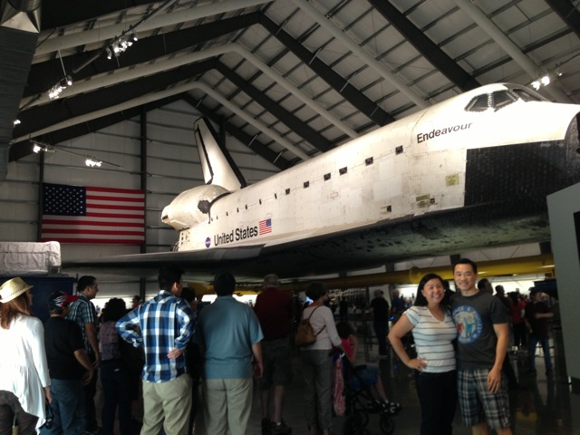 The Wife and me at Space Shuttle Endeavour!