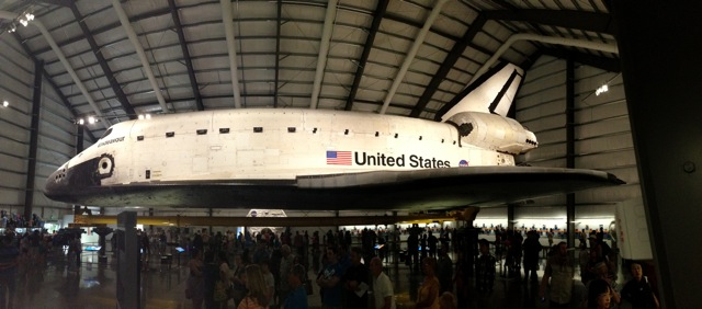 I Ran Into a Space Toilet and the Space Shuttle Endeavour!
