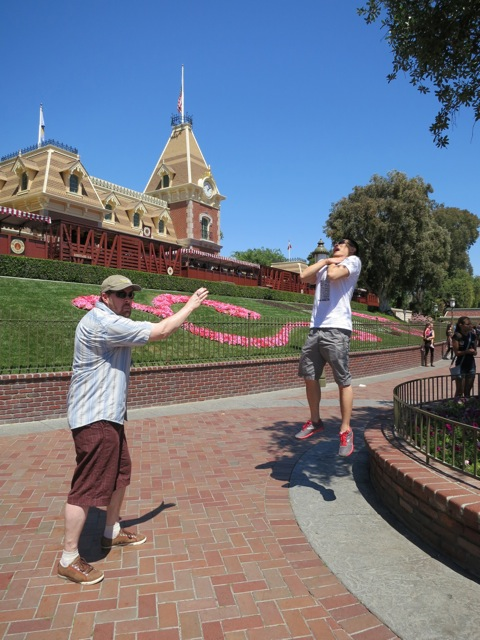 Vadering at Disneyland