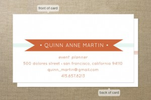 Minted: Banners & Stripes business card