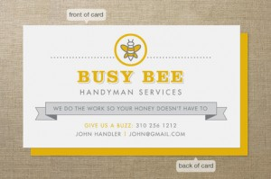 Minted: Busy Bee business card