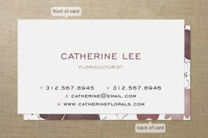 Minted: Floriculturist business card