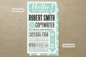 Minted: Hello I'm a Business Card