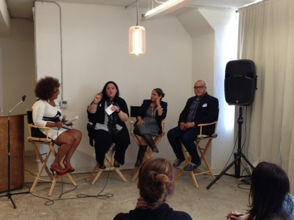 Marie Denee (The Curvy Fashionista); AJ Feuerman (Confessions of a Fat Girl); Lisa Rocha (Ilaments); Jose Resendez (Cover Girl/Fleishman Hillard)