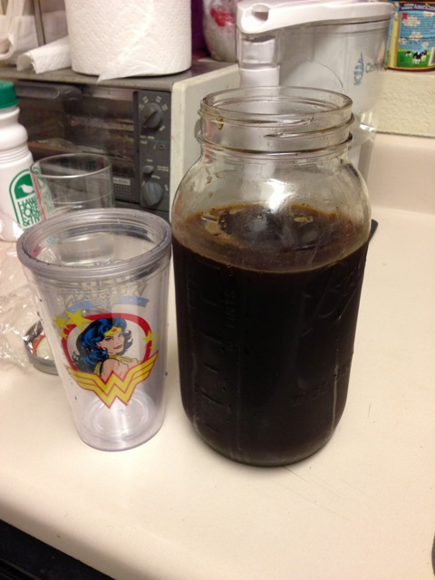 the final product - cold brew coffee