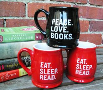 Eat Sleep Read mug - Malaprop's Bookstore