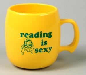 reading is sexy mug