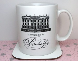 I'd Rather Be At Pemberly  coffee mug source: http://www.etsy.com/shop/BohemiasLookingGlass?ref=seller_info