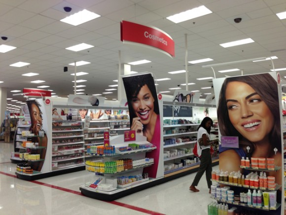 Cosmetics section - Target Carson