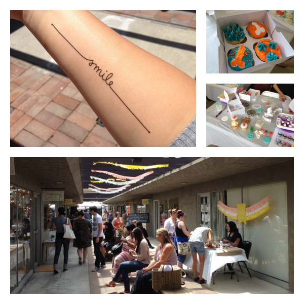Tattly temp tattoo; my penis cupcakes; some of the attendees at Community - Craft Happy OC
