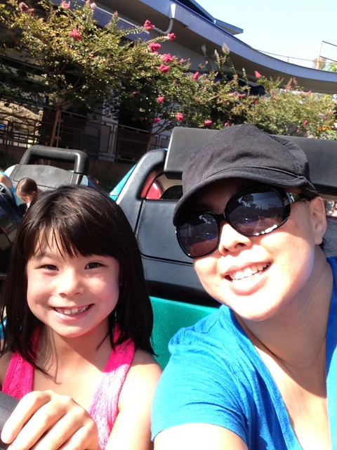 Me and A - best driver in LA! - Disneyland's Autopia