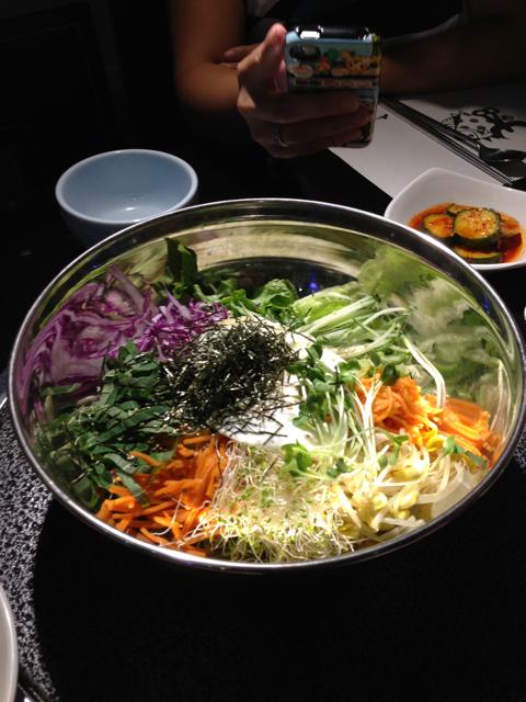 Saesak-Bibimbap - Mixed Rice with Assorted Spring Vegetables