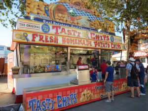 Tasti Chips booth with The Wife - LA County Fair preview event