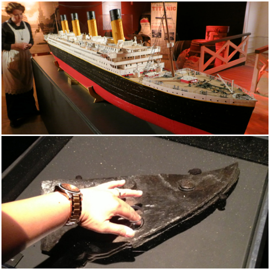 Scaled model of the Titanic and you can touch part of the hull!