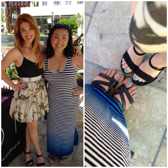 Oh just Lauren Andersen and me and our matching toes!