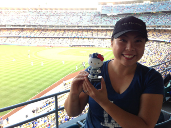 Hello Kitty bobblehead night at the LA Dodgers game 2013
