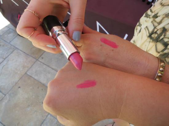 We swatch the same lipstick - Avon Ultra Color Lipstick