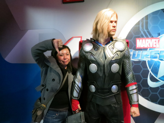 Don't mind me. I hate Thor. - Madame Tussauds LV