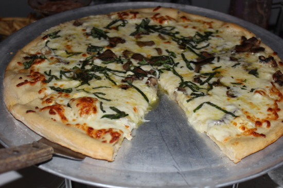 Marla's White Pizza - Sugar Factory. Photo by Xenia