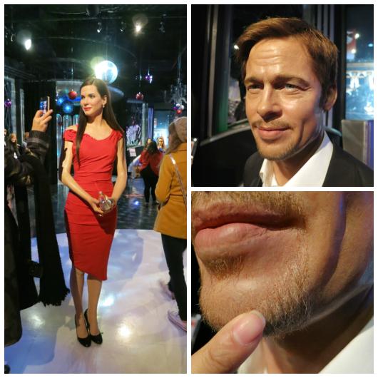 Sandra Bullock, Brad Pitt up close - Madame Tussauds Las Vegas