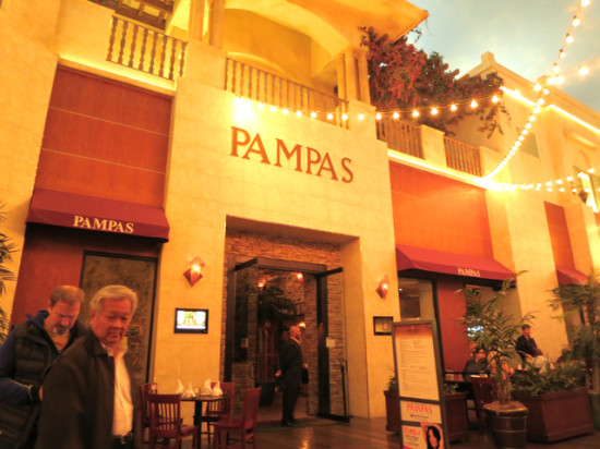 Pampas Brazilian Grill, located in the Planet Hollywood Miracle Mile Shops