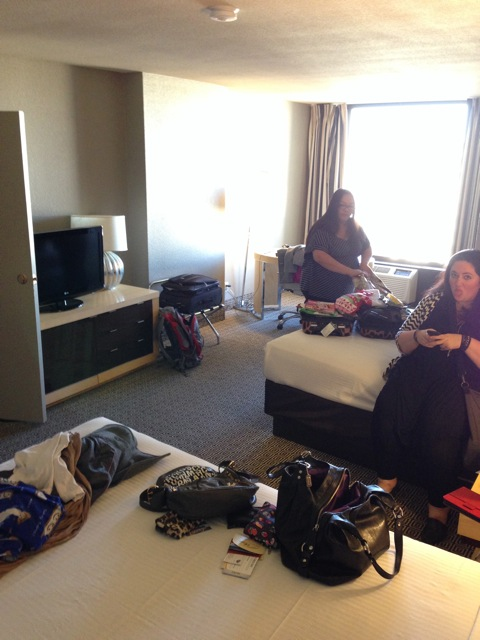 Semi-unpacked but really I just threw my stuff everywhere. - The Plaza LV