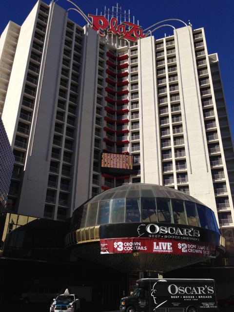 Looking up from across the street - The Plaza LV