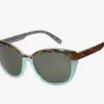 ICU Eyewear - Sun Collection - Cat-Eye Two-Tone in Tortoise/Aqua
