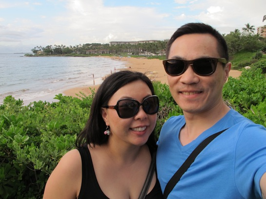 Wailea, Maui with our ICU Eyewear sunnies!