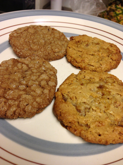 Jen & Joe's Cookie Dough - Chocolate Chunk and Oatmeal Toffee cookies