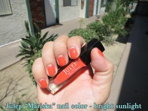 Julep nail color - Mariska - in bright sun