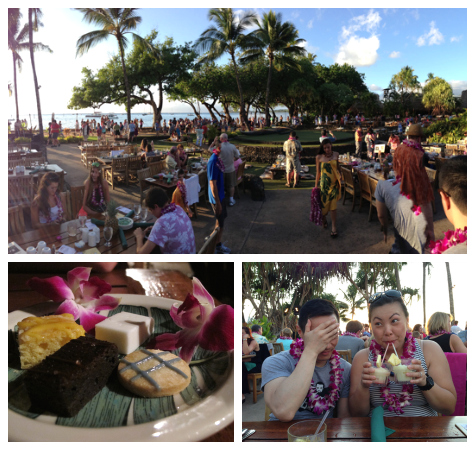 Old Lahaina Luau - sunset, desserts, drinkin' for two!