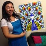 My finished piece - Paint & Sip Studio LA