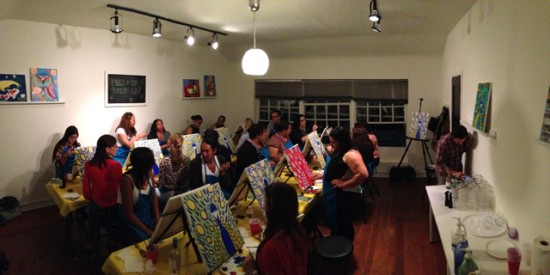 The studio - Paint & Sip Studio LA