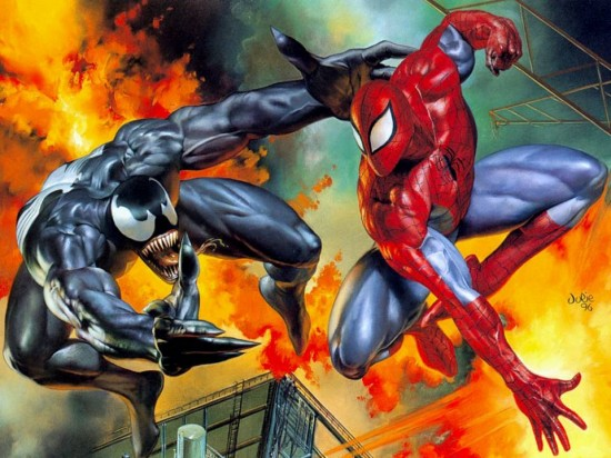 Venom vs Spider-Man. source: help me out, folks!