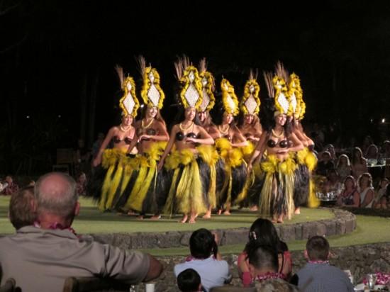 Luau dancers - Maui babymoon