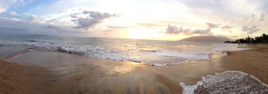 Last sunset in Kihei - Maui babymoon
