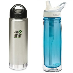 Klean Kanteen and Camelbak water bottles