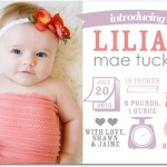 Tiny Prints birth announcement - Adorable: Strawberry