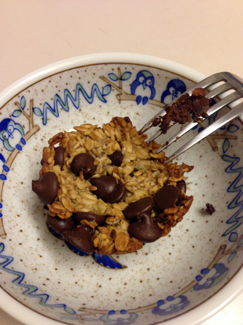 oatmeal chocolate chip breakfast cup - after
